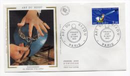 """1983--enveloppe 1er Jour-FDC""""Soie""""--Art Du Bijou--cachet  PARIS--75 - FDC"""
