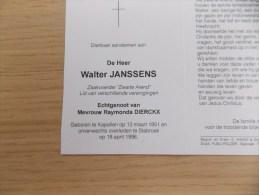 Doodsprentje Walter Janssens Kapellen 12/3/1951 Stabroek 18/4/1996 ( Raymonda Dierckx ) - Religion & Esotericism