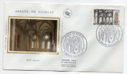 "1983--enveloppe 1er Jour-FDC""Soie""--Abbaye De NOIRLAC-18---cachet  BRUERE ALLICHAMPS--18 - 1980-1989"