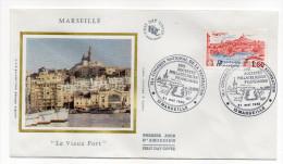 """1983--enveloppe 1er Jour-FDC""""Soie""""--MARSEILLE-""""Le Vieux Port""""---cachet  MARSEILLE--13 - FDC"""