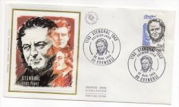 """1983--enveloppe 1er Jour-FDC""""Soie""""--STENDHAL- Cachet  GRENOBLE--38 - FDC"""
