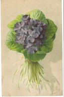 Bouquet De VIOLETTES Signé MILLOT.Marque L-E . 306. - Non Classés
