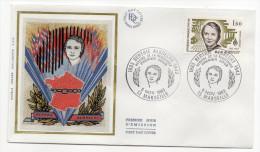 """1983--enveloppe 1er Jour-FDC""""Soie""""--Berthe ALBRECHT---résistante- Cachet   MARSEILLE--13 - FDC"""