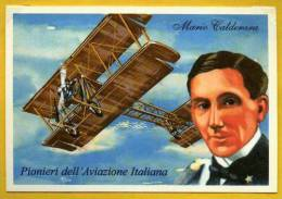Aviation Pilote Mario Calderara Pionniers De L´Aviation Italienne PC - Aviazione