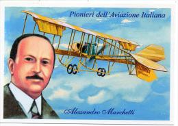 723 Aviation Pilote Alessandro Marchetti Pionniers De L´Aviation Italienne PC - Aviazione