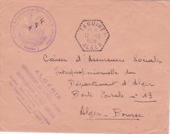 """Franchise """""""" SECTION ADMINISTRATIVE SPECIALISÉE De TAGUINE"""""""" + """""""" TAGUINE ALGER """""""" Agence Postale Sur  Lettre FM - ALGER - Algeria (1924-1962)"""