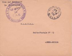 """Franchise """""""" S.A.S. EL-HAMMAM LE CHEF DE SAS """""""" + """"""""HAMMAM-RIGHA""""""""  Sur  Lettre FM - Algérie SAS - Algeria (1924-1962)"""