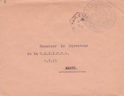 """Franchise """""""" S.A.S. DE BOUIRA SAHARY  """""""" + """""""" PAUL CAZELLE ALGER""""""""  Agence Postale Sur Lettre FM - Algérie SAS - Algeria (1924-1962)"""