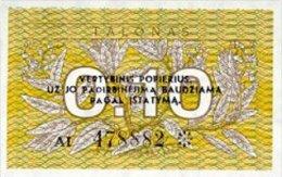 Lithuania 0.1 Talonas  1991  Pick 29 UNC - Lituanie