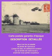 Cpa Aviation. Premier Voyage En Aéroplane: FARMAN Au Dessus Du Moulin De Mourmelon, 30 Octobre 1908. Voir Correspondance - Aviateurs