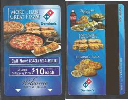 Hotel  - Quality Hotel, Dominoes Pizza, Beaufort South Carolina - Hotel Keycards