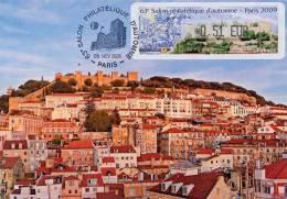 FRANCE (2009) - Carte Maximum Card ATM LISA - PORTUGAL Castelo S. Jorge / Castle / Castillo / Chateau - Lisboa - Cartas Máxima
