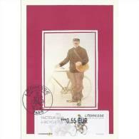 FRANCE (2011) - Carte Maximum Card - ATM LISA - ADRESSE Musée De La Poste - Facteur Rural à Bicyclette 1894 - Bicycle - 2010-...