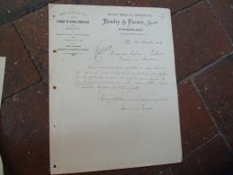 Ancienne Facture  Cognac Baudry Et Farnier Caisse Emballage - 1900 – 1949