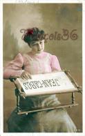 Jolie Jeune Femme Et Attirail De Broderie - Jean Cabos - 1907 - Femmes