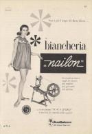 # BIANCHERIA NAILON RHODIATOCE 1950s Advert Pubblicità Publicitè Reklame Underclothes Lingerie Ropa Intima Unterkleidung - Lingerie