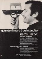 # BOLEX PAILLARD Yverdon Suisse 1960s Advert Pubblicità Publicitè Publicidad Reklame Film Movie Camera Eumig - Advertising