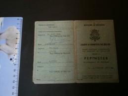 Carte D'identité Dél. àPepinster Le 3/2/70 à MONSEZ Mathieu - Documents Historiques