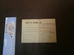 UNION PROFESSIONNELLE DES PATRONS ELECTRICIENS DE VERVIERS - Carte De Membre 1951- Mme Vve ALOYS LEJEUNE De Heusy - Documents Historiques
