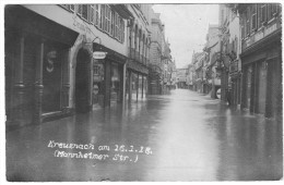 KREUZNACH AM 16/01/18  MANNHEIMER STRASSE   INONDATIONS DE LA VILLE - Bad Kreuznach