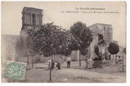MAILLEZAIS -  L'Eglise Et Le Monument Des Combattants. Carte Rare. - Maillezais