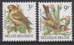 Belgique N° 2189 P7a - 2190 P7a *** Oiseaux-Buzin - Gros-bec - Chardonneret - 1985 - 1985-.. Birds (Buzin)