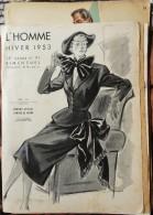 L' HOMME  - 15 Gravures De Mode ( Masculin / Féminin)  - Printemps / Été - Automne / Hiver   1950 à 1962 . - Collections