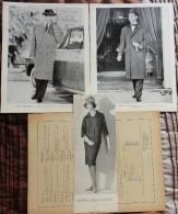 Trois Photos De Mode En Noir Et Blanc De 1960 - Collections