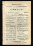 - BASSIN-BIDET COMBINE . BREVET D�INVENTION DE 1902 .