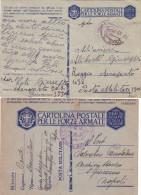 ITALIE - 2 CARTES POSTALES MILITAIRES - POSTA MILITARE 3500 - ET CAMPO P.G. CAPUA  - 1941. - 9. WW II Occupation (Italian)