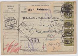 DR1925-12-30 BIELEFELD Paketkarte Nach Oslo Norwegen - Deutschland