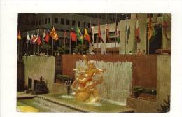 Cpsm N° R42 NEW YORK CITY Prométheus Fountain Rockefeller Center - Non Classés