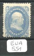 EUA Scott  63 (x) YT 18 # - 1847-99 General Issues