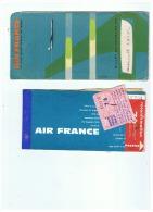 AVEC POCHETTE     BILLET DE PASSAGE AIR FRANCE     LILLE   LONDON   LILLE   1961 - Europe