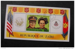Zaire 968 Souvenir Sheet Block Salvation Army Cancelled Minor Crese Right Side 1980 A04s - 1980-89: Used