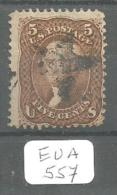 EUA Scott  95 Star Cancel Very Good  YT 21b # - Used Stamps