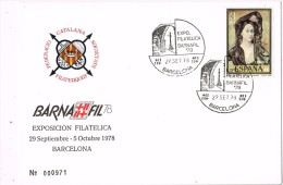 14049. Tarjeta Exposicion BARCELONA 1978. Barnafil 78 - 1931-Oggi: 2. Rep. - ... Juan Carlos I