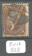 EUA Scott  95 With Grill Very Good YT 21b # - Used Stamps