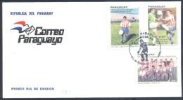 Paraguay 1998 Fdc Cover: Football Fussball Soccer Calcio; Coupe Du Monde De Football Mundial World Cup WM France - Coupe Du Monde