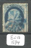 EUA Scott  24 Blue And Red Cancels (Edge Sheet) YT 9 # - Used Stamps