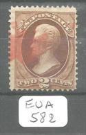EUA Scott 146 Red Cancel Fine To Very Fine YT 40 # - Used Stamps