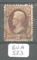 EUA Scott 146 Black And Red Cancel Fine To Very Fine YT 40 # - Used Stamps