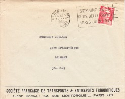 Paris-20/6/1949-Semaine De La Plus Belle France/19-26 Juin 1949 - Sellados Mecánicos (Publicitario)