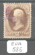 EUA Scott 146 Purple Cancel Fine To Very Fine YT 40 # - Used Stamps