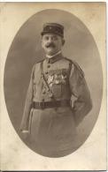 CARTE PHOTO  -  ALGER  - MILITARIA  -  4ème  Régiment  - Photographe MOFT  - 37 Rue D´ISLY à ALGER - Uniforme - Guerre 1914-18
