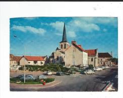 CPM  03 Domerat Place Bacchus Combier Circulé 1976 TBE Automobiles 2CV Et Simca? - France
