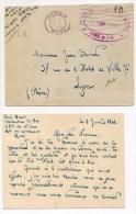 1946 - ENVELOPPE FM Du CENTRE ECOLE DE SPECIALISTES De NIMES (GARD) / ARMEE DE L'AIR - Marcophilie (Lettres)