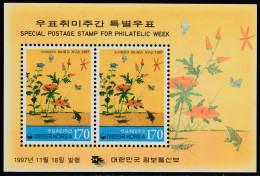 South Korea 1997 Philatelic Week. Miniature Sheet Mi Block 645 MNH - Insecten