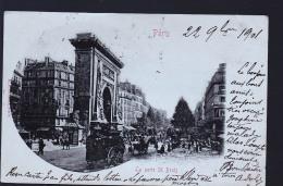 PARIS SAINT DENIS CP RARE 1901 AFFRANCHISSEMENT MARKIRCH - Distrito: 10
