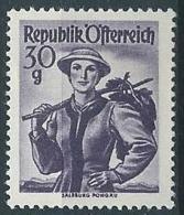 1948-50 AUSTRIA COSTUMI REGIONALI 30 G MNH ** - A052 - 1945-.... 2a Repubblica